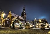 Christmas market in Riga, Latvia