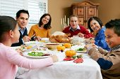 image of multi-generation  - Multi Generation Family Celebrating Thanksgiving - JPG