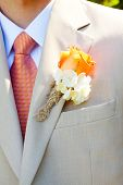 picture of lapel  - A groom in a light - JPG