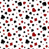 Heart, diamond, spade and clubs background