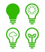 stock photo of low-light  - lightbulb  icon  - JPG