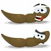 foto of excrement  - Illustration of a funny cartoon dung character in happy and angry expressions - JPG