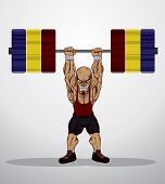 image of weight lifter  - Create Cartoon Weight lifter - JPG