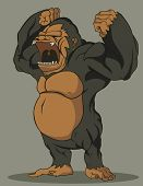 stock photo of chimp  - Create cartoon vector gorilla - JPG