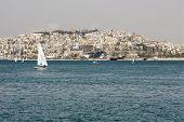 stock photo of piraeus  - A view of the Kastella hill of Piraeus  - JPG