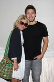 LOS ANGELES - AUG 24:  Alley Mills, Scott Clifton at the Bold n Beautiful QnA and Autograph Event  a
