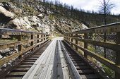 image of trestle bridge  - Historic Trestle Bridge - JPG