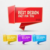 Vector colorful stickers for design