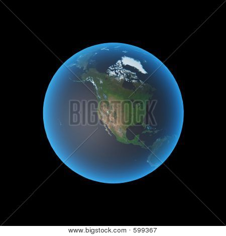 Picture or Photo of Globe showing north america. elements of this image furnished by nasa