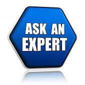Ask An Expert In Blue Hexagon