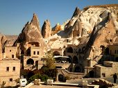 image of goreme  - A picturesque view over Goreme town in Cappadocia - JPG