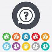 stock photo of faq  - Question mark sign icon - JPG