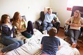 picture of underage  - Worried Teenage Girl In Bedroom With Boyfriend - JPG