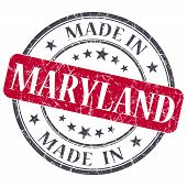 foto of maryland  - made in Maryland red round grunge isolated stamp - JPG