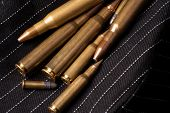 stock photo of bullet  - Different Caliber Bullets Closeup - JPG