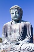 stock photo of kanto  - The Great Buddha with blue sky in Kamakura - JPG