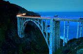 pic of bixby  - Bixby Bridge as the famous landmark in Big Sur California - JPG