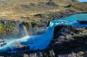 image of pain-tree  - Waterfalls in Parque Nacional Torres del Paine Chile - JPG
