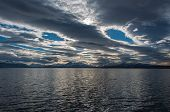stock photo of natal  - By the waterside in Puerto Natales Chile - JPG