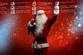 foto of letters to santa claus  - Santa Claus reading children letters with wishes - JPG
