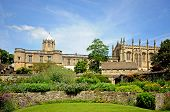 picture of church-of-england  - View of Christ Church college and Cathedral seen from the memorial gardens Oxford Oxfordshire England UK Western Europe - JPG