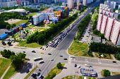 picture of crossroads  - Crossroads photographed from above the 30th floor in Moscow Russia - JPG