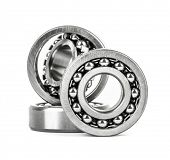 picture of ball bearing  - Ball bearing isolated on white background - JPG