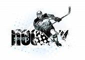 Постер, плакат: Хоккей фон 2