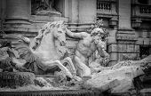 stock photo of chariot  - one of the two tritons carrying Ocean on his triumphal chariot - JPG