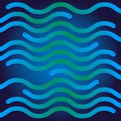foto of green snake  - ripple blue and green snakes like waves in the sea - JPG
