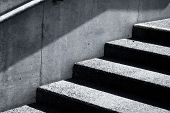 stock photo of staircases  - stair concrete staircase at the entrance to the building - JPG