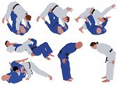 picture of judo  - Few illustration about judo sport - JPG
