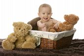 Baby In Wicker Basket