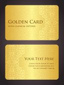 pic of exclusive  - Exclusive template for golden card with vintage pattern - JPG