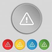 stock photo of hazard symbol  - Attention caution sign icon - JPG