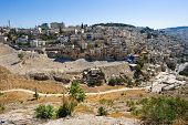 pic of aqsa  - Part of Jerusalem with the kidron valley in front as seen from the southeast corner of the temple mount - JPG