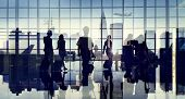 image of cabin crew  - Business People Silhouette Cabin Crew Airport Professional Occupation - JPG