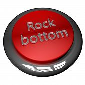 stock photo of bottom  - Rock bottom button isolated over white 3d render - JPG