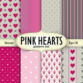 stock photo of pattern  - Set of hearts - JPG