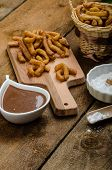 picture of churros  - Churros with chocolate dip  - JPG