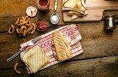 picture of churros  - Quick dinner toast with ham and cheese  - JPG