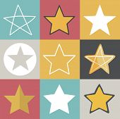 stock photo of reach the stars  - Star Shape Success Superstar Victory Winning Vector Concept  - JPG