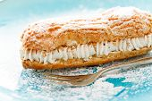 foto of eclairs  - eclair with cream - JPG