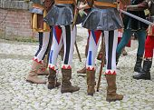 picture of ceremonial clothing  - medieval reenactment with costumed characters and ancient clothes - JPG