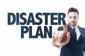 image of disaster preparedness  - Business man pointing the text - JPG
