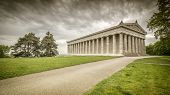stock photo of bavaria  - An image of the Walhalla in Bavaria Germany - JPG