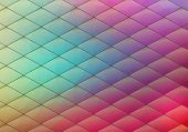 pic of rhombus  - Colorful geometric background with rhombus - JPG