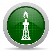 picture of shale  - gas icon oil sign  - JPG