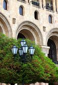 picture of armenia  - The historic center of Yerevan city closeup - JPG