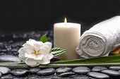 picture of gardenia  - Still life with gardenia flowers with candle  - JPG